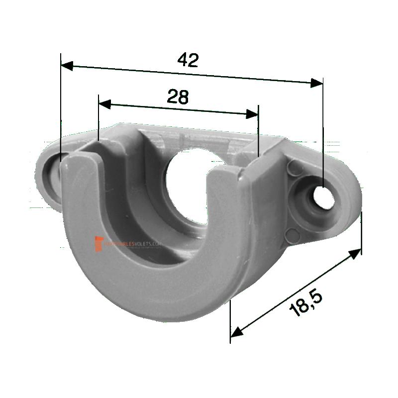 Coussinet pour roulement à billes diam. 28 mm