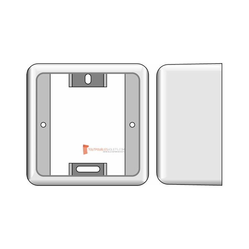 Boitier de montage en saillie pour récepteur Somfy Centralis Indoor RTS