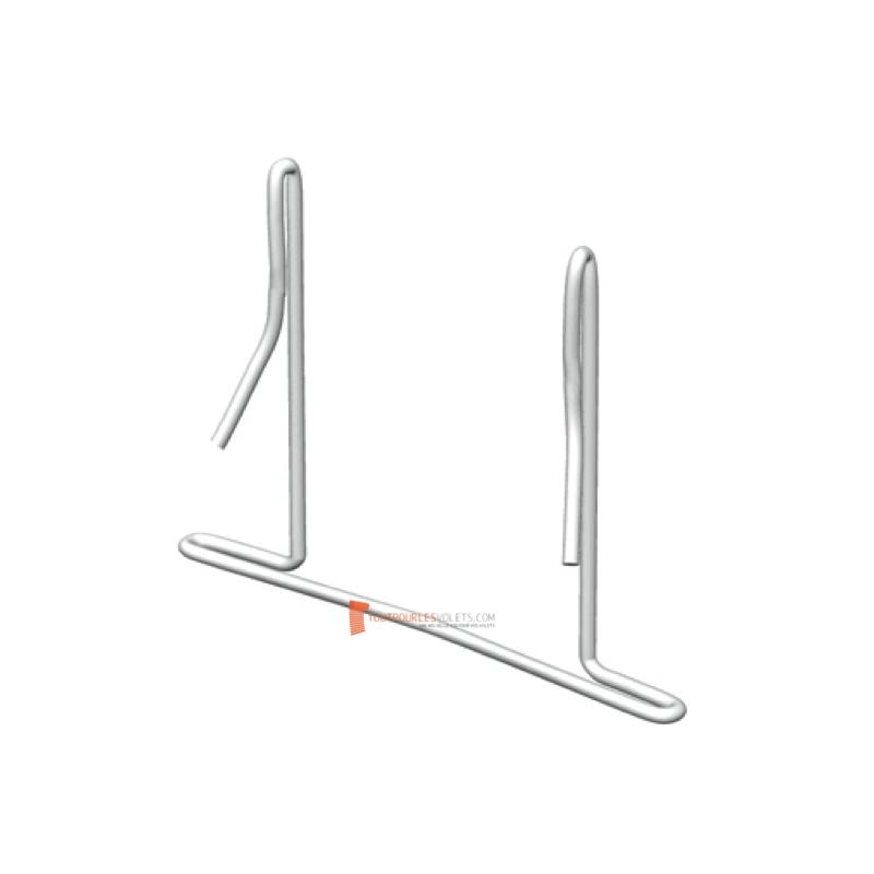 Clips acier pour lame PVC 37 mm (lot de 10)