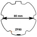 Adaptations pour moteur Becker diam. 50 et tube ZF80