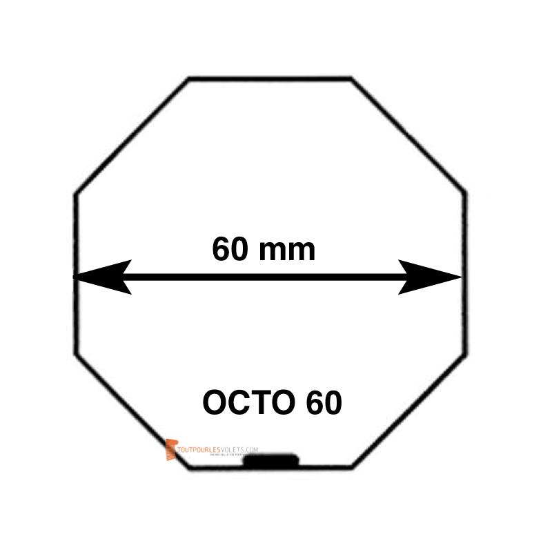 Adaptations moteur Becker diam. 50 et tube Octo 60