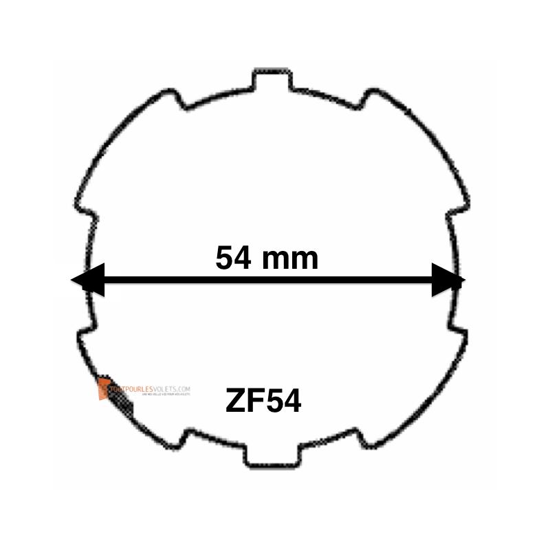 Adaptations moteur Becker diam. 50 et tube ZF54