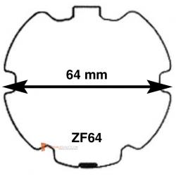 Adaptations pour moteur Becker diam. 50 et tube ZF64