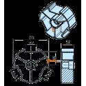 Adaptations pour moteur Becker diam. 50 et tube Deprat 89 mm rainuré