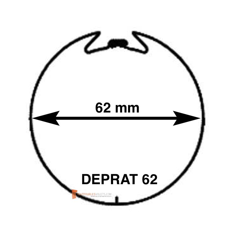 Adaptations moteur Somfy diam. 50 et tube Deprat diam. 62 mm rainuré