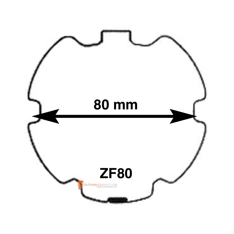 Adaptations moteur Somfy diam. 50 et tube ZF80