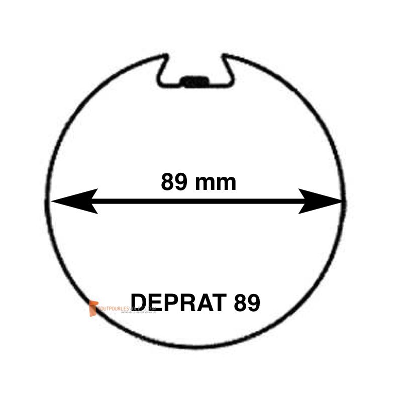 Adaptations moteur Somfy diam. 50 et tube Deprat diam. 89 mm rainuré