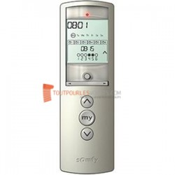Somfy Telis 6 Chronis RTS Télécommande radio 6 canaux Silver