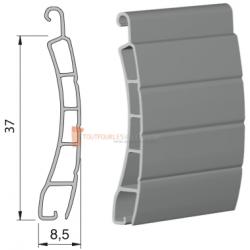 Lame 37 mm PVC, Blanc - 1 mètre