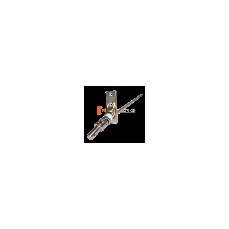Sortie 45° Chromé 59x22 - Entrée mâle 12 - Tige C6 L 300