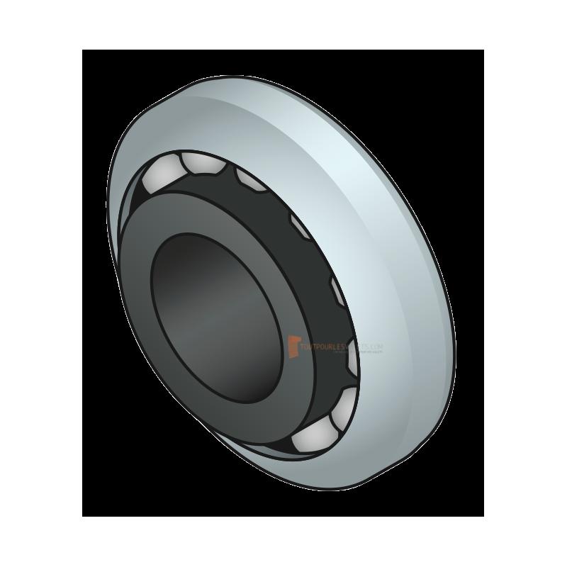 Roulement à billes nylon diam. 28 - 12 mm