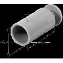 Butée ronde 40 mm Gris
