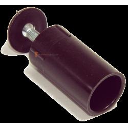 Butée ronde 40 mm Marron foncé