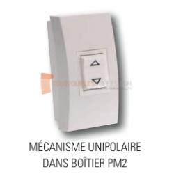 Inverseur filaire APEM, mécanisme unipolaire, boitier PM2, position fixe