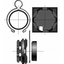 Support moteur Somfy - Caisson Eklet
