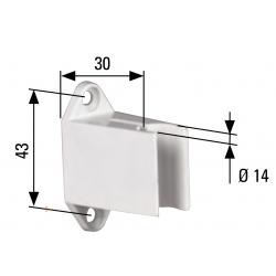Bloqueur de manivelle de volet roulant diam. 14 - Coloris Blanc