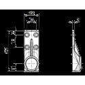 Sortie 45° Zamak Blanc 59x22 - Entrée mâle 10 - Tige 6p7 L300