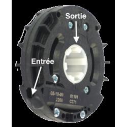 Treuil Technivis débrayable Entrée 6p7 - Sortie Crabot 27 type ZF - FDC