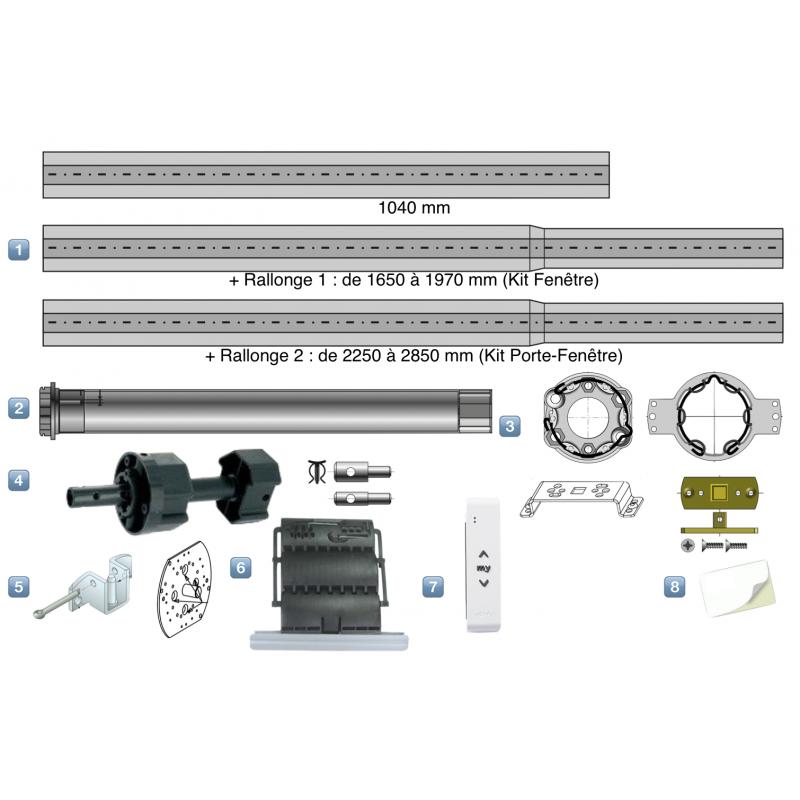 Kit Motorisation Radio iO Somfy pour Fenêtre - Télécommande