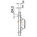 Sortie 45° PVC Blanc 45x52 - Entrée diam. 12 - Tige 6p7