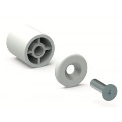 Butée ronde 15 mm Blanc