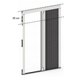 Plisseo - Kit moustiquaire plissée 1 vantail à recouper - 1600 x 1950 mm - Blanc