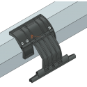 Attache rigide à visser, 1 maillon, Ep. lame de 8 mm, pour tube octo 60
