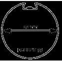 Adaptations moteur Somfy diam. 60 et tube Deprat diam. 89 mm rainuré