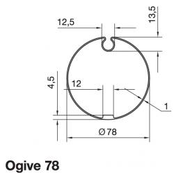 Adaptations moteur Somfy diam. 50 et tube diam. 78 à goutte