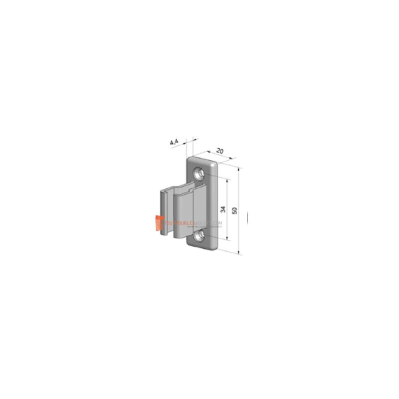 bloqueur en pvc blanc pour manivelle de volet roulant de 12 17 mm toutpourlesvolets com. Black Bedroom Furniture Sets. Home Design Ideas