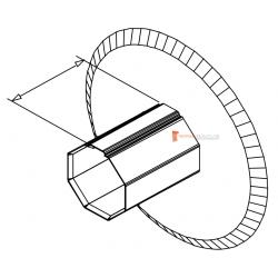 Flasque de guidage pour tube octo 40 diam. 140 mm