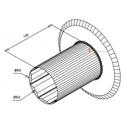 Flasque de guidage pour tube octo 60 ou Deprat 62 diam. 193 mm
