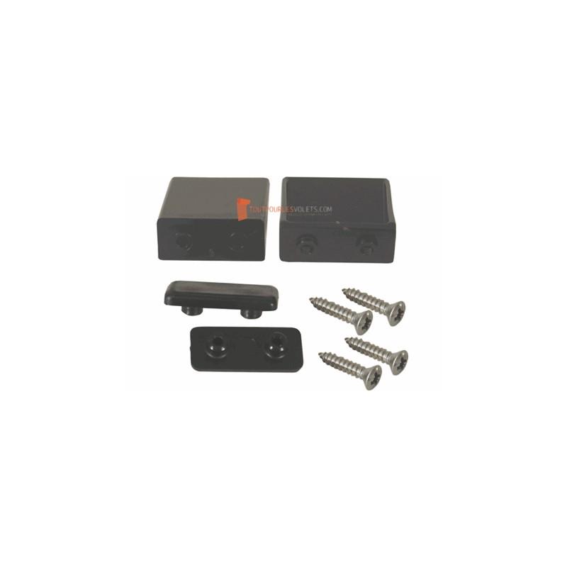 Butées plates 40 mm, lame 13 - Noir