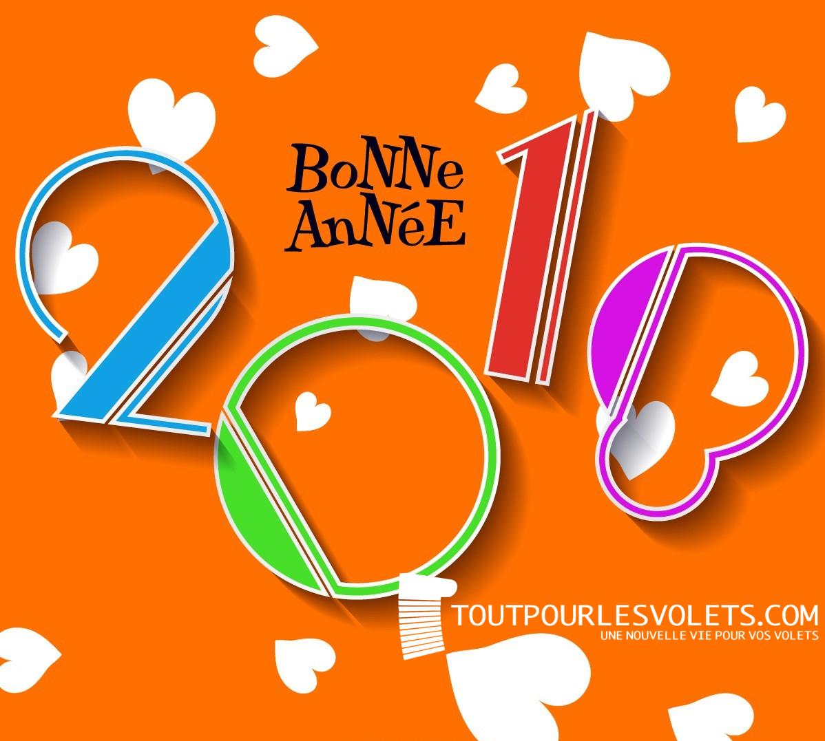 Toutpourlesvolets.com vous souhaite ses meilleurs voeux pour 2018 !