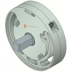 Treuil 1420B Entrée carré 6 mm, Sortie carré 10 mm mâle, FDC
