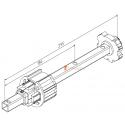 Embout télecopique pour Deprat 89, Tube C16, L320