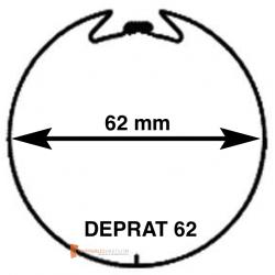 Adaptations pour moteur Becker diam. 50 et tube Deprat diam. 62 mm rainuré