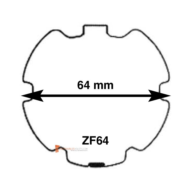 Adaptations moteur Somfy diam. 50 et tube ZF64