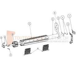 Kit Motorisation Filaire Becker pour Fenêtre - Inverseur encastré