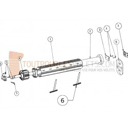 Kit Motorisation Filaire Becker Tube octo 40 - Inverseur encastré