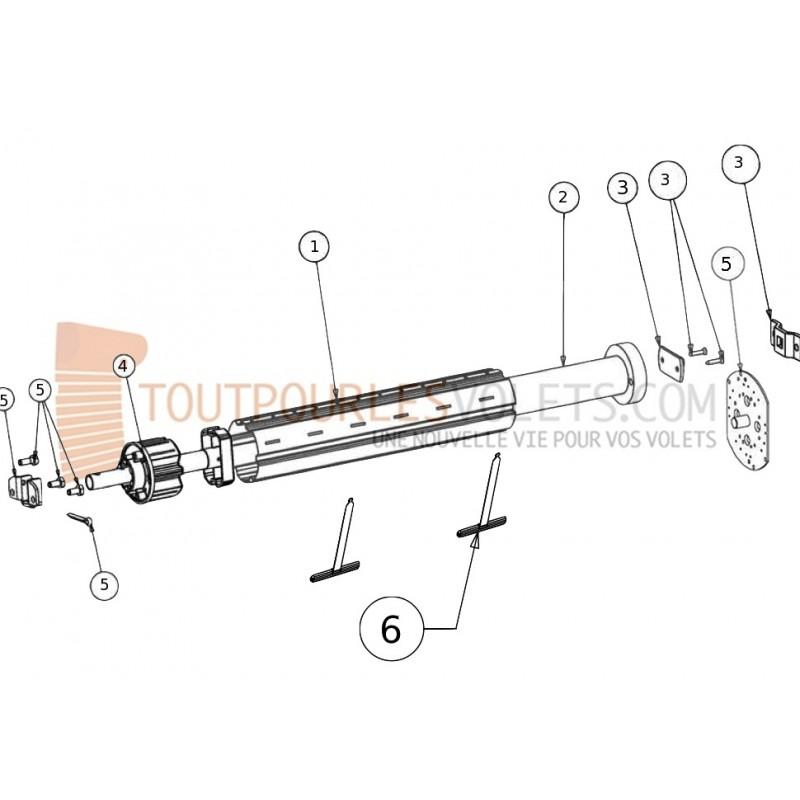 Kit Motorisation Radio Somfy Tube octo 40 - Télécommande