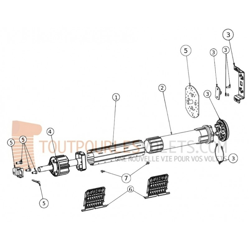 Kit Motorisation Radio Somfy Grande largeur - Télécommande
