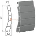 Pack de 4 lames 37 mm PVC, Blanc - 1 mètre