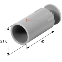 Butée ronde 40 mm Beige