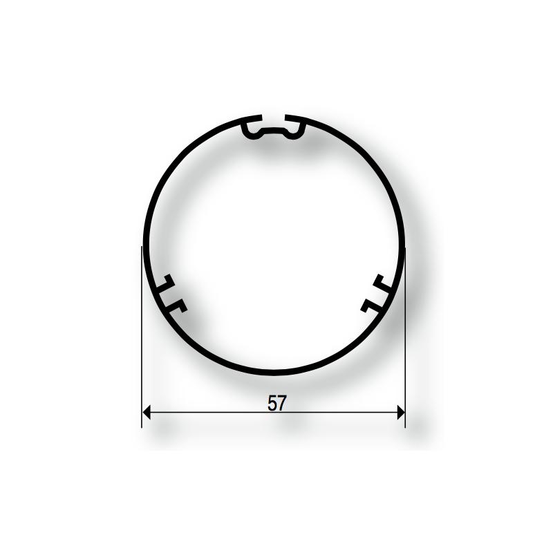 Adaptations moteur Somfy diam. 50 et tube Ates diam. 57 mm