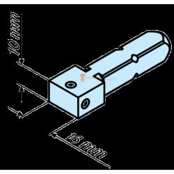 Becker Rectangle de 16 x 10 mm pour moteur diam. 50