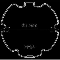 Adaptations moteur TPV.com diam. 50 et tube ZF64