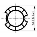 Adaptations moteur TPV.com diam. 50 et tube rond à goutte diam. 78