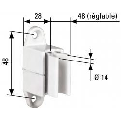 Bloqueur réglable pour manivelle de volet roulant diam. 14 - Coloris Blanc