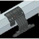Attache rigide à visser, 2 maillons, Ep. lame de 8 mm, pour tube octo 60